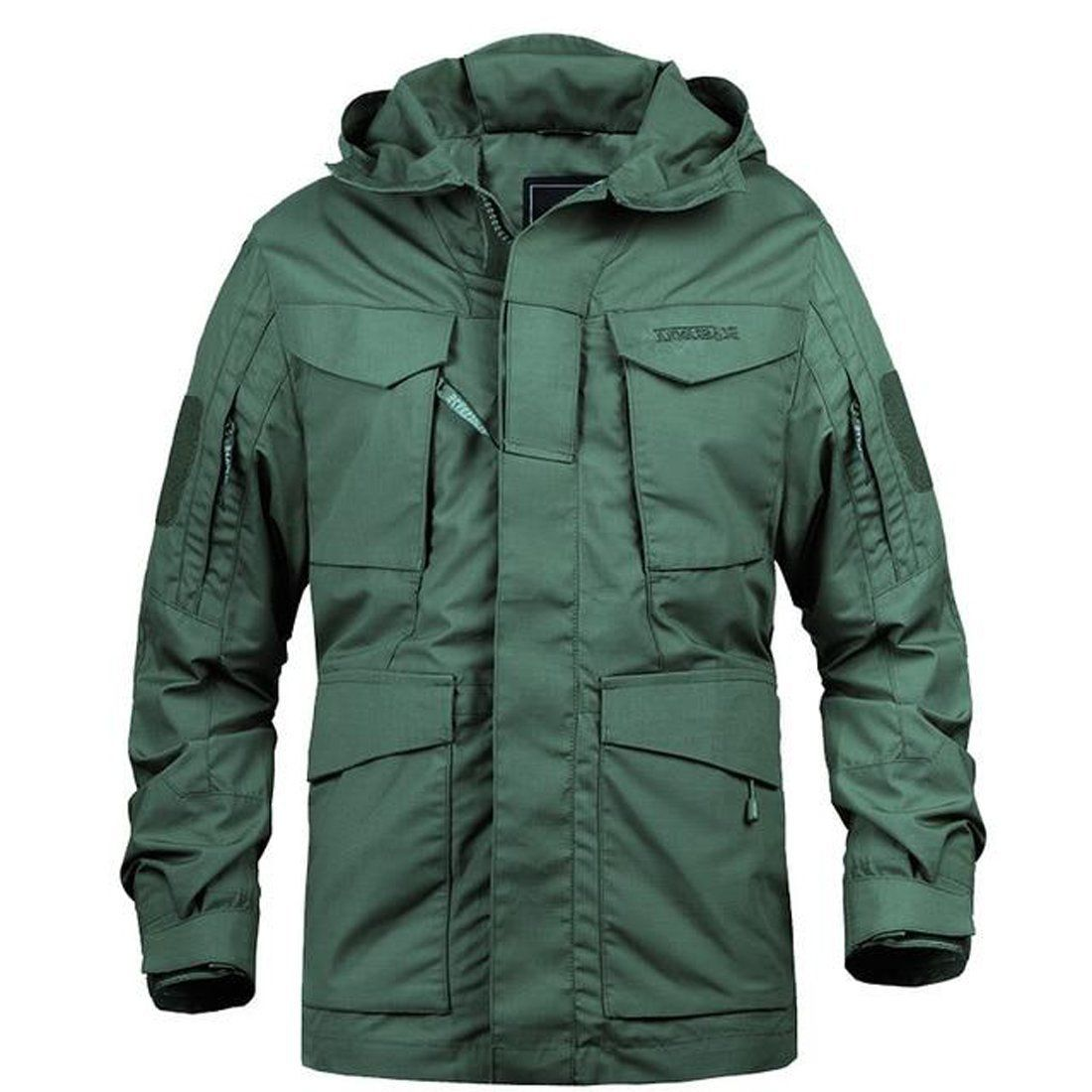 Men's Jacket Military Camouflage Windbreaker Hooded