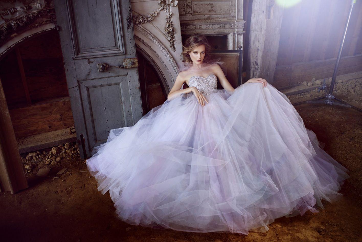 Lazaro 2015 Bridal Collection - Designer Wedding Dress - Sweetheart Neckline Ball Gown With Gemstones Details. Available at Designer Bridal Room, Hong Kong.