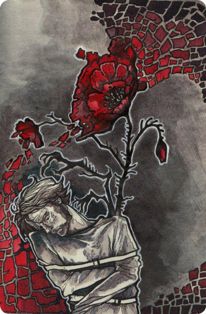 Гаршин красный цветок рисунок