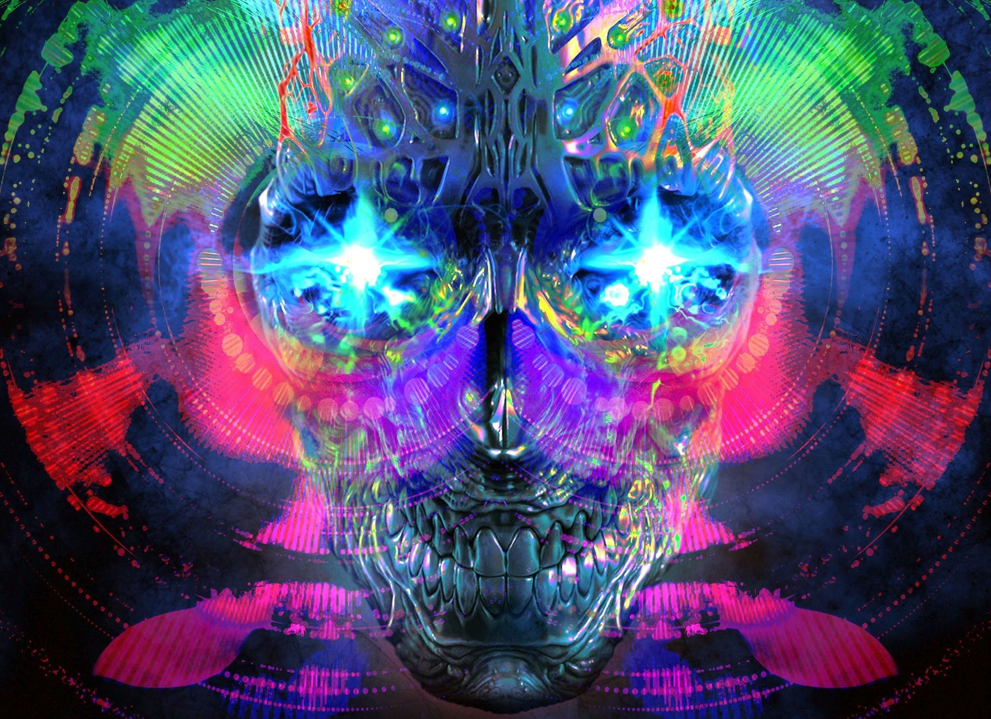 Res 2030x1473 Trippy High Def Desktop From Psychedelic Category Psychedelic Wallpaper High Definition Psychedelic Art Art Skull Wallpaper