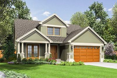 Compact Craftsman Style #craftsmanstylehomes