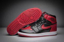 reputable site 40f58 28285 Nike Air Jordan 1 Retro High OG Bred Black Varsity Red 555088-023 mens  basketball