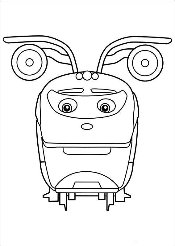 Coloriage dessins chuggington 9 coloriage dessins pour les enfants pinterest coloriage - Train dessin anime chuggington ...