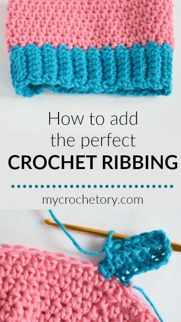 How to crochet ribbing - MyCrochetory