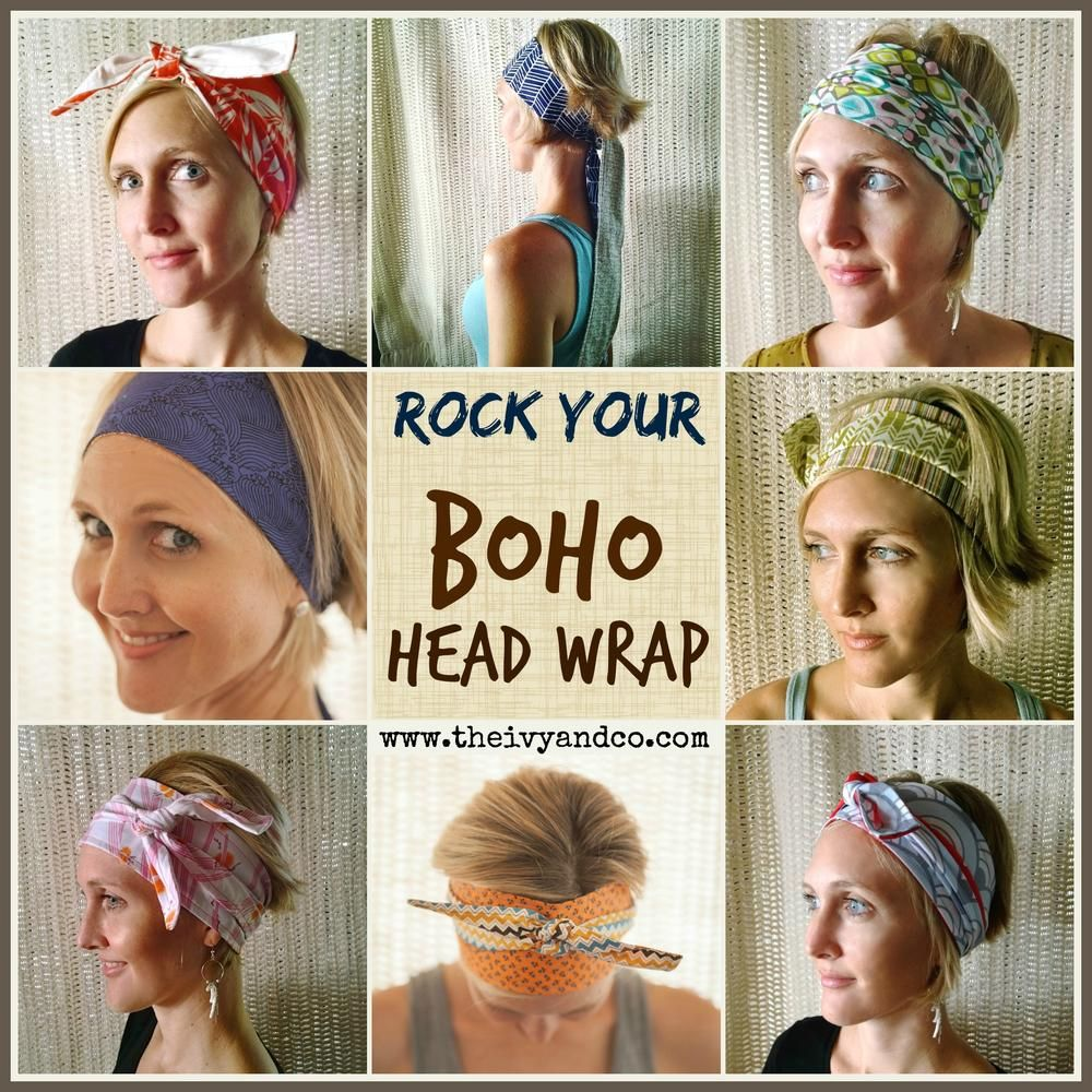Boho Wrap Monthly Subscription Ivy Co Boho Head Wrap Headbands For Short Hair Boho Headband