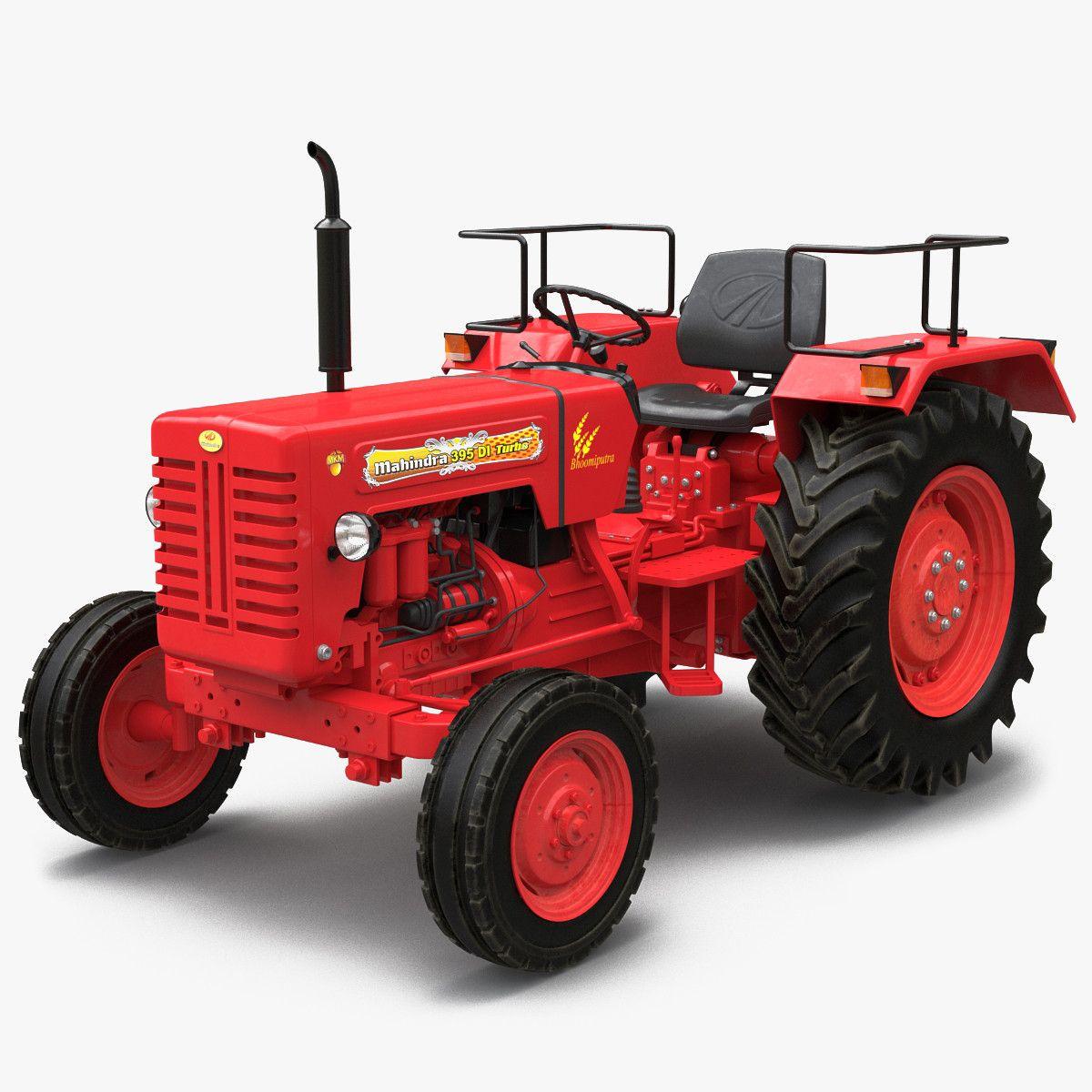 3d model tractor mahindra 395 di tractors 3d model