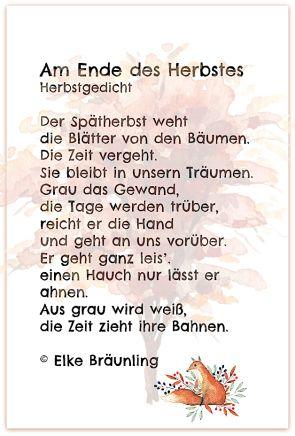 Am Ende Des Herbstes Herbstgedichte Fur Kinder Gedichte Gedichte Fur Kinder