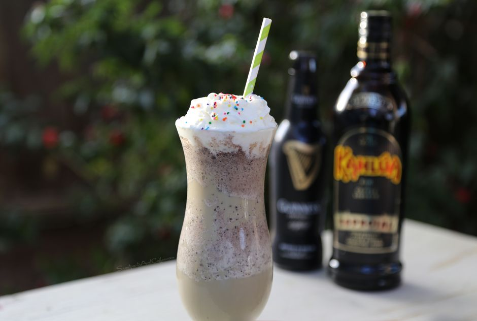 guinness kahlua mint chocolate chip shake cocktail corner good