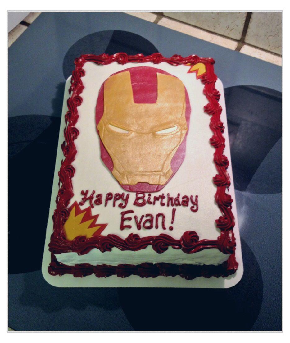Incredible Iron Man Sheet Cake With Images Cake Designs Birthday Personalised Birthday Cards Akebfashionlily Jamesorg