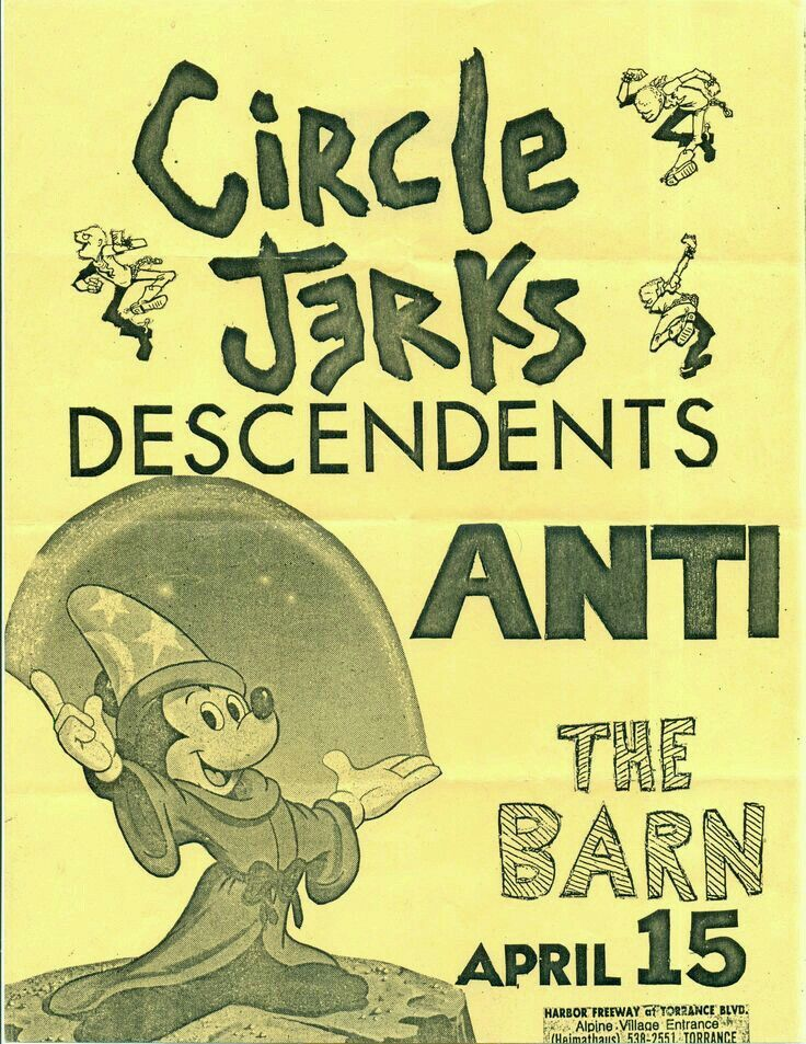 CIRCLE JERKS, THE DESCENDENTS and ANTI.