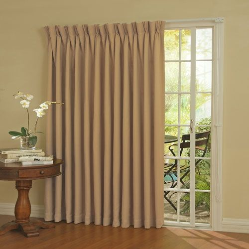 Eclipse Patio Door Wheat Thermal Blackout Curtain Panel Ellery