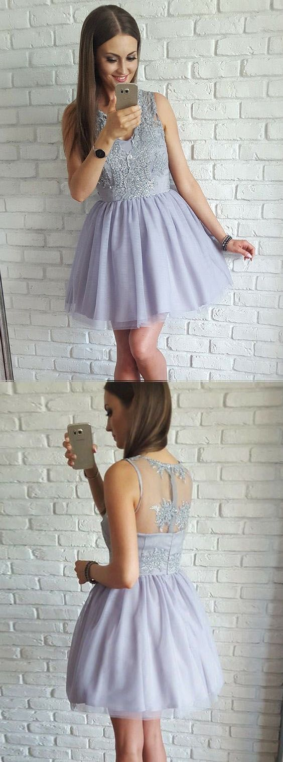 A line homecoming dressesshort prom dressescute homecoming dress