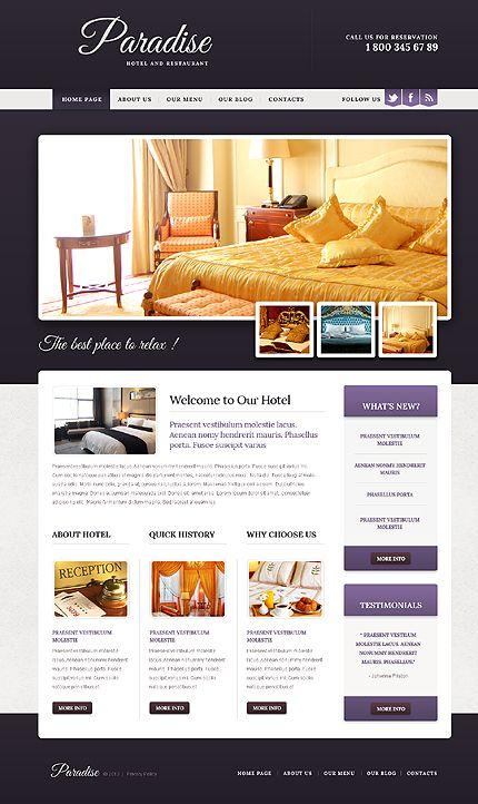 Paradise Hotel Drupal Templates by Elza Web Design Pinterest - reservation forms in pdf