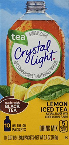 Crystal Light Iced Tea On The Go With Lemon 10count 07ounce Packages Pack Of 6 Read More At The Image L Peach Ice Tea Iced Tea Drinks Crystal Light Drinks