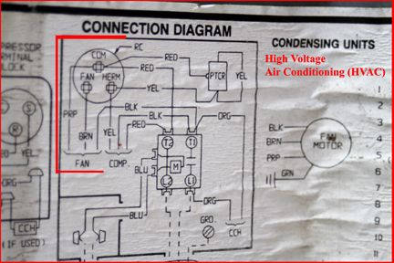 Hvac Run Capacitor Wiring Diagram Jpg 432 288 Ac Wiring Refrigeration And Air Conditioning Capacitors