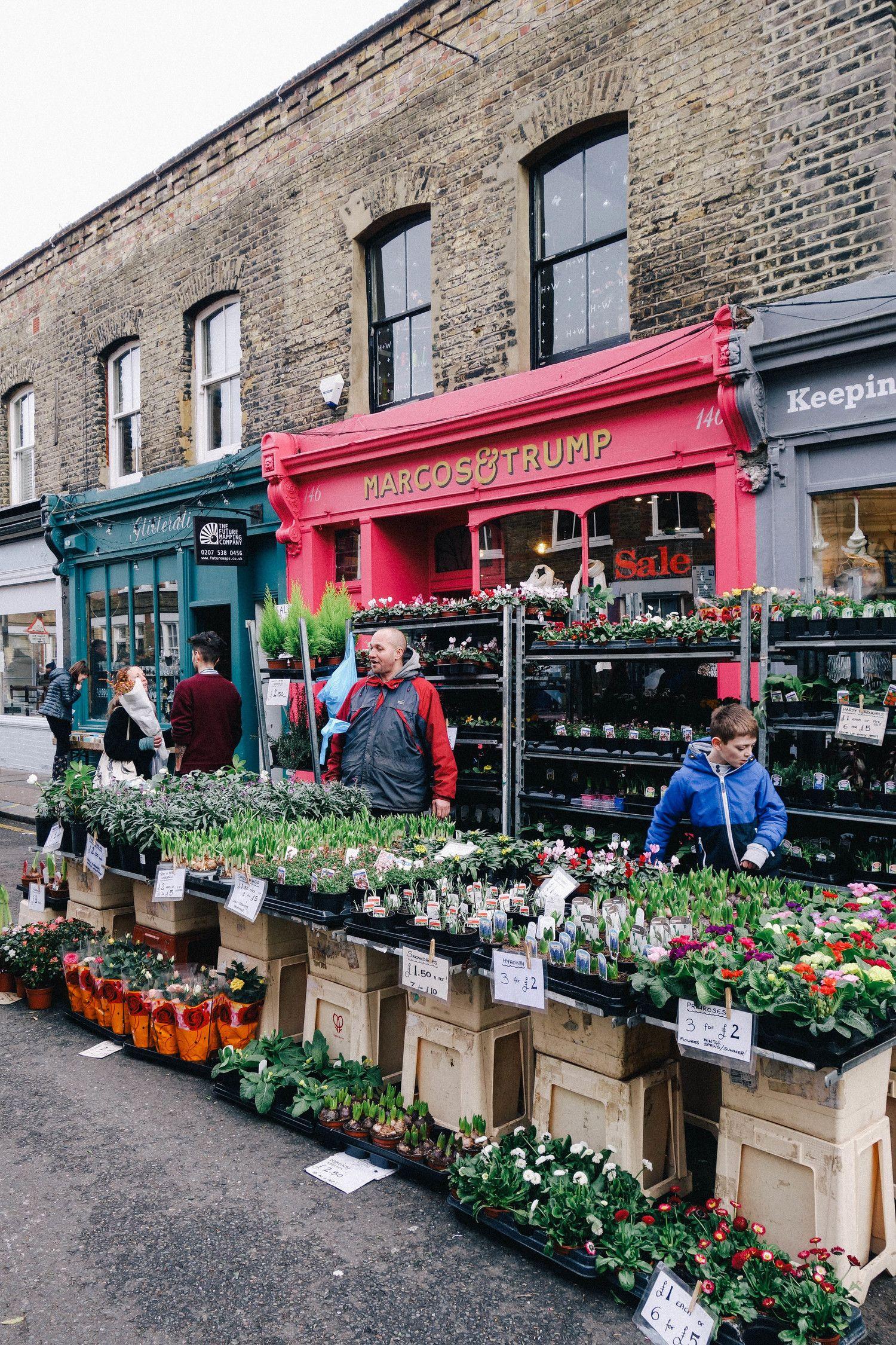 Columbia Rd Flower Market + Campaña Columbia road flower