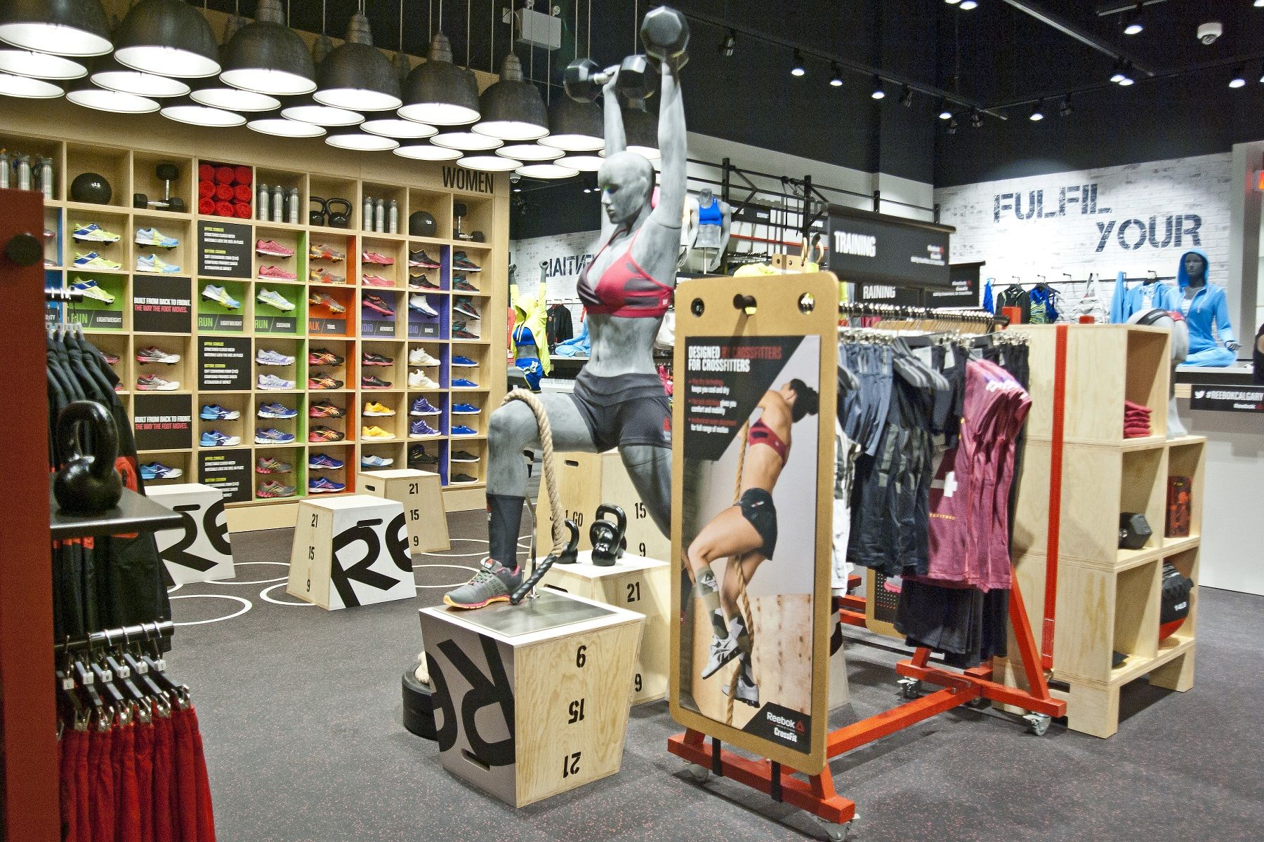 reebok fit hub store crossfit gym opens in new york city interior design shops nyc Reebok | Keeping Fit #sportsretail. Find this Pin and more on Retail store  display design ...