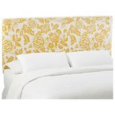 Found it at Wayfair - Slip Cover Canary Cotton Upholstered Headboard