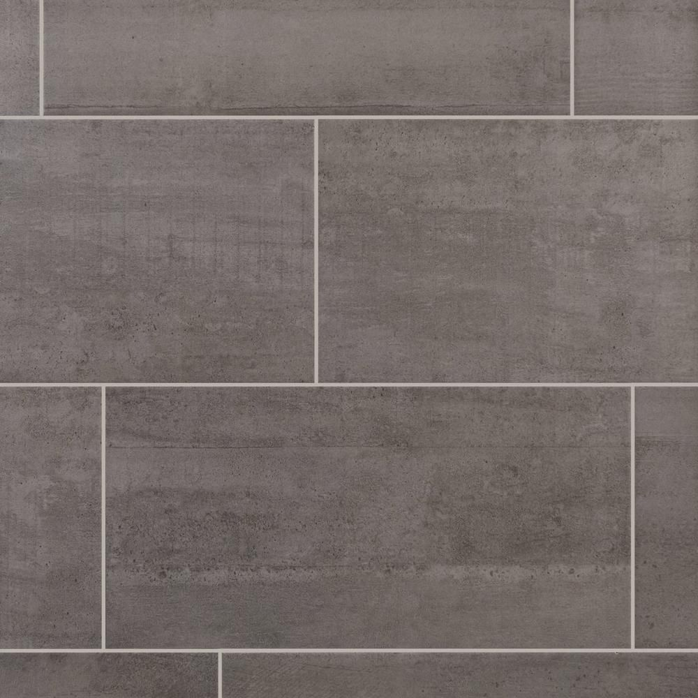 Concrete gray ceramic tile 12in x 24in 100136795 floor and concrete gray ceramic tile 12in x 24in 100136795 floor and decor dailygadgetfo Choice Image