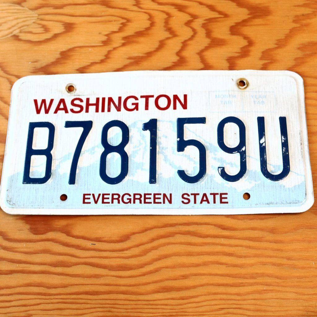 Washington Evergreen State License Plate B78159U State