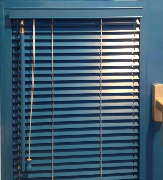 Blue Wooden Blinds Blue Blinds Blinds Blue Curtains