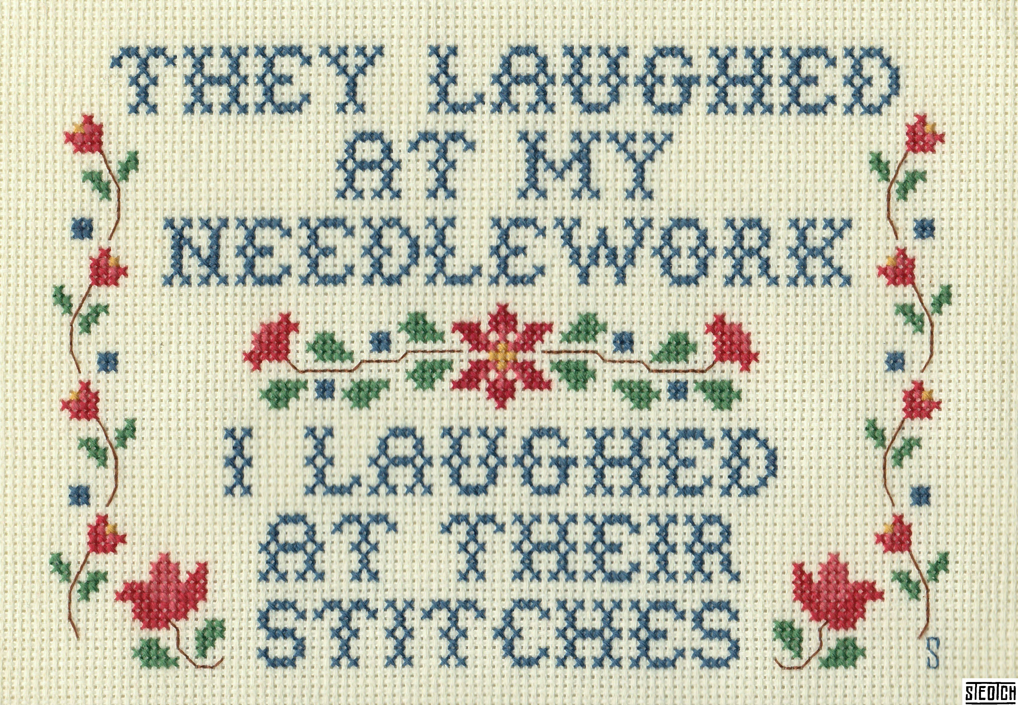 gangster crossstitches that would make your grandmother proud