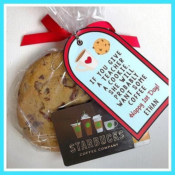 Teacher Cookie/Coffee THANK YOU tag - (Teacher Appreciation, Thank You, End of Year gift)