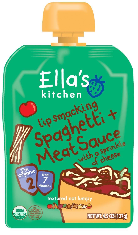 Ella\'s Kitchen Organic Baby Food Stage 2 Spaghetti Meat Sauce, 4.5 ...