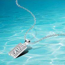 Hot 925 silver necklace pendants Roman numerals shine Zircon jewelry solid sterling silver bracelet women free shipping