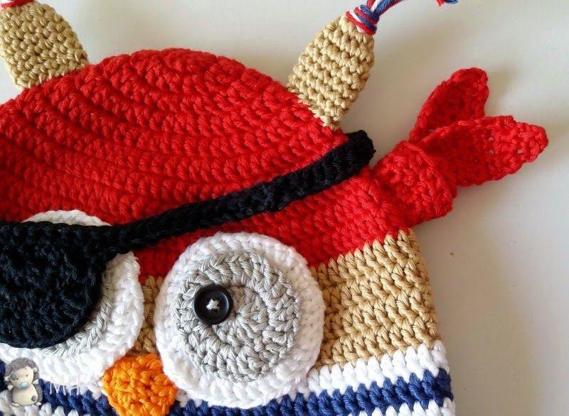 Gorro Búho Pirata A Crochet, Patrón Gratis | Recetas para cocinar ...
