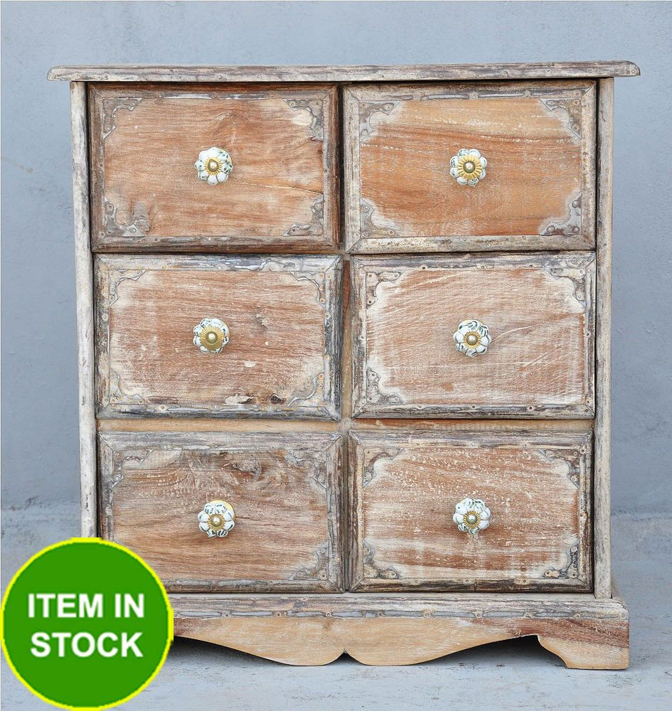 SOLID timber WHITE chest of drawers side table bedside bed