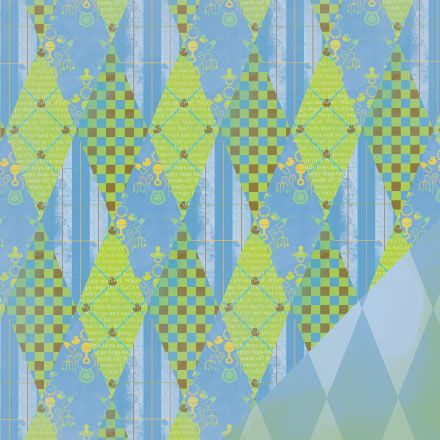 Place this unique #scrapbook paper to show off your new #baby #boy!