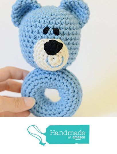Teddy Bear Rattle - Handmade Crochet Baby Rattle from Simply Hooked…