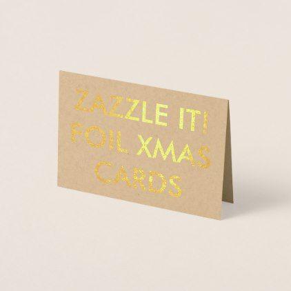 Custom Gold Foil Christmas Card Blank Template - blank card template