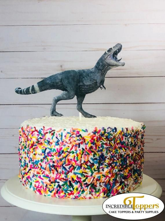 Tyrannosaurus Rex Cake Topper T Birthday Decorations This Incredible Realistic Image Of Is Sure To Be A Hit At Your Next Dinosaur