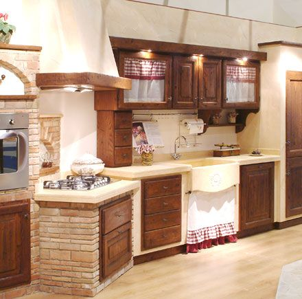 Cucine Rustiche su Pinterest  Cucina Primitiva, Cucine Country e Case Di Legno