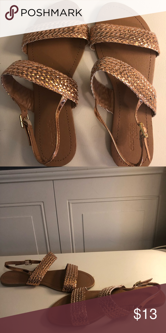 a16c4f783fd7 Gold Charlotte Russe sandals Gold Charlotte Russe sandals Charlotte Russe  Shoes Sandals