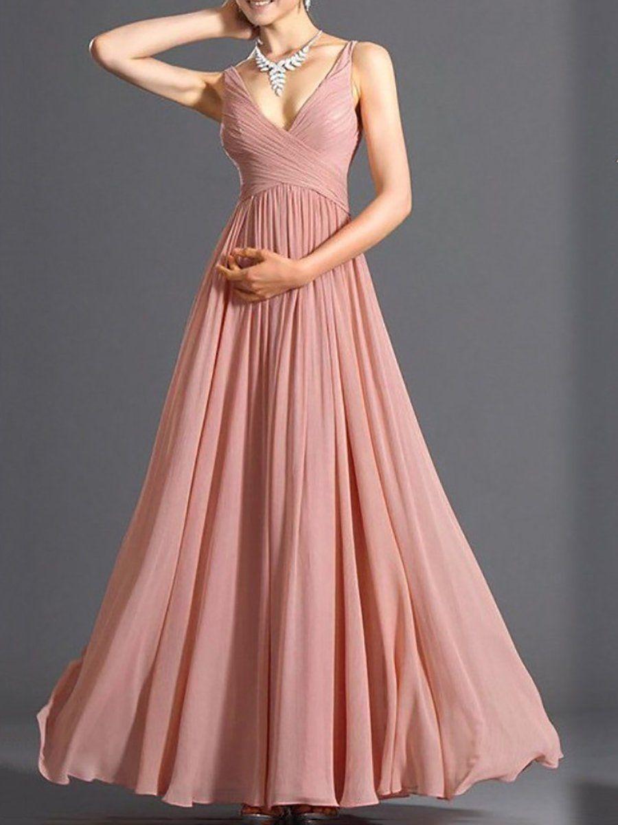b9053ffa02b JustFashionNow Pink Women Prom Dress Swing Evening Dress Sleeveless Elegant  Cotton Backless Dress