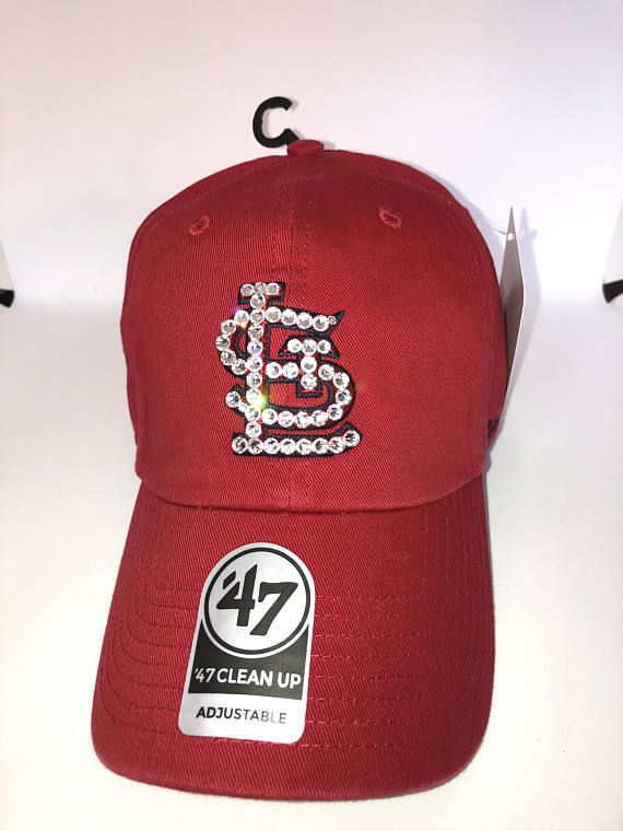 on sale ad3f6 76c3f ... low cost swarovski crystal bling st. louis cardinals adjustable hat  6e167 f299a
