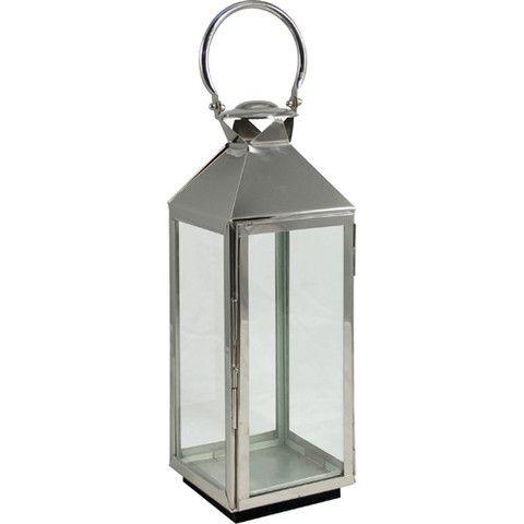 Marvelous Medium Chrome Garden Lantern (66cm)