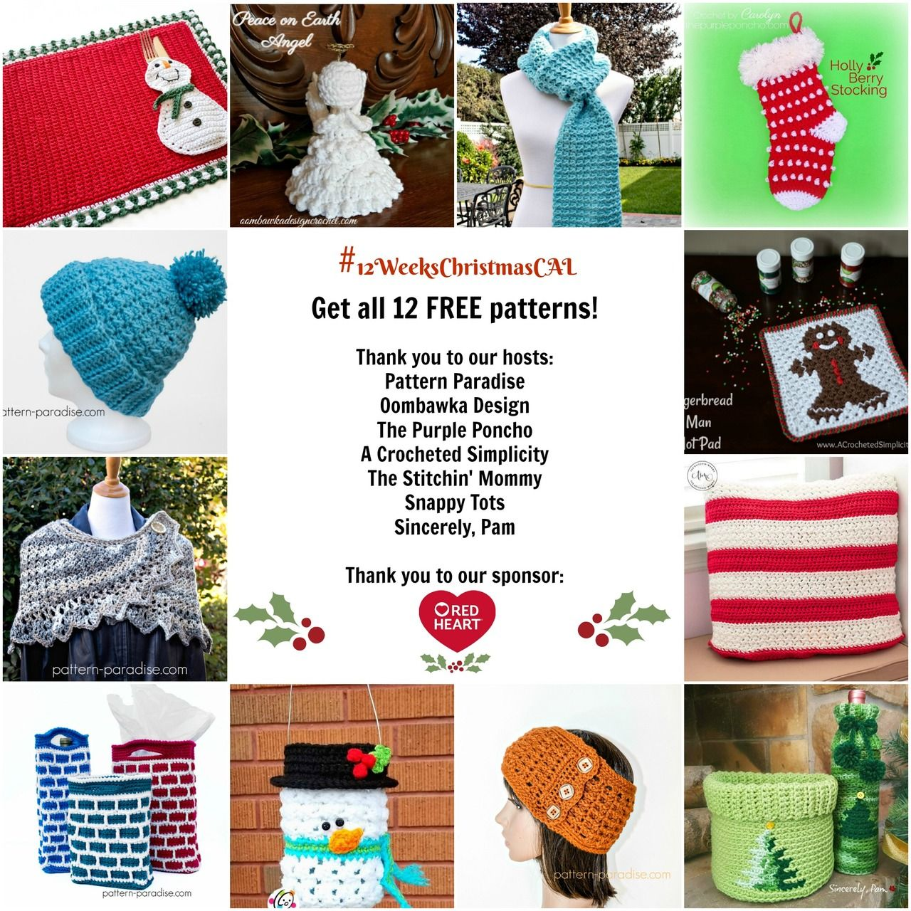 12WeeksChristmasCAL - 12 FREE Patterns & Giveaway! | Pattern ...