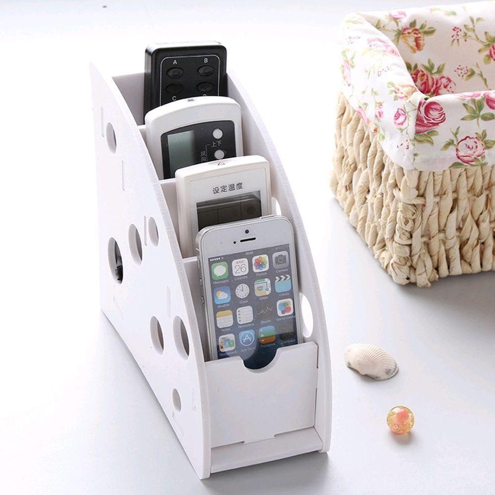 Pens Phone Bin Remote Control Organizer Holder Storage Box Desk Phone Box
