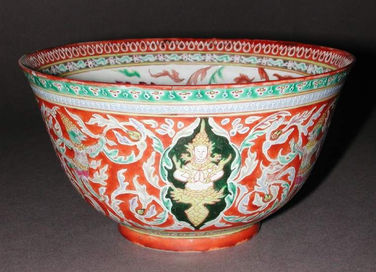 Maker(s) & Production:  Unknown, production, China  Category:  hard-paste porcelain  Name:  bowl