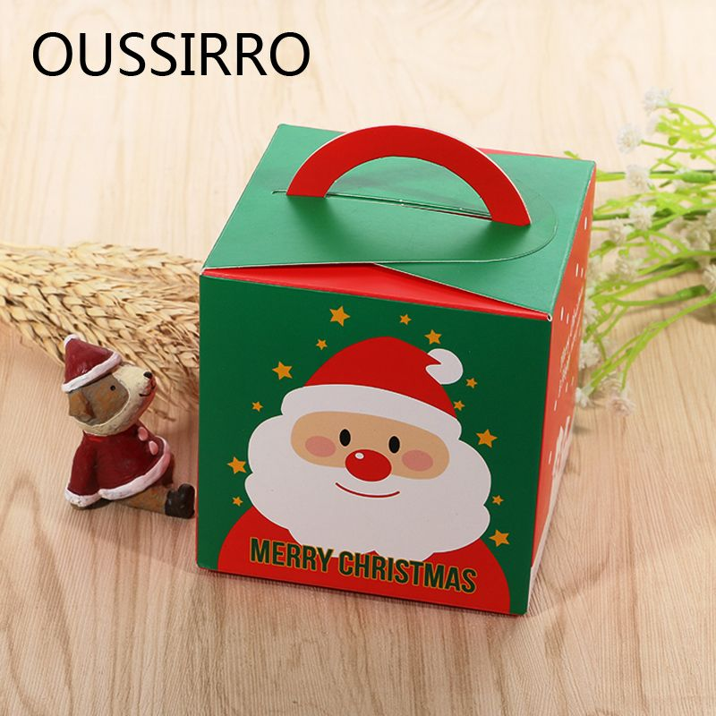 Claus Handmade Soap Pastry Tool Candy Package Christmas Decor Gift Bags Apples