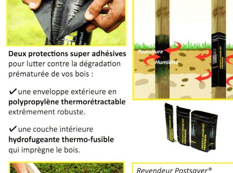 Gaine Thermoretractable pour poteau en terre Nos produits Pinterest