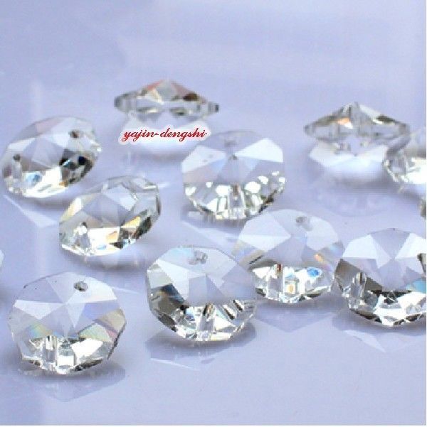 200PCS 14MM Clear Crystal Octagonal beads Decoration Crystal chandelier parts