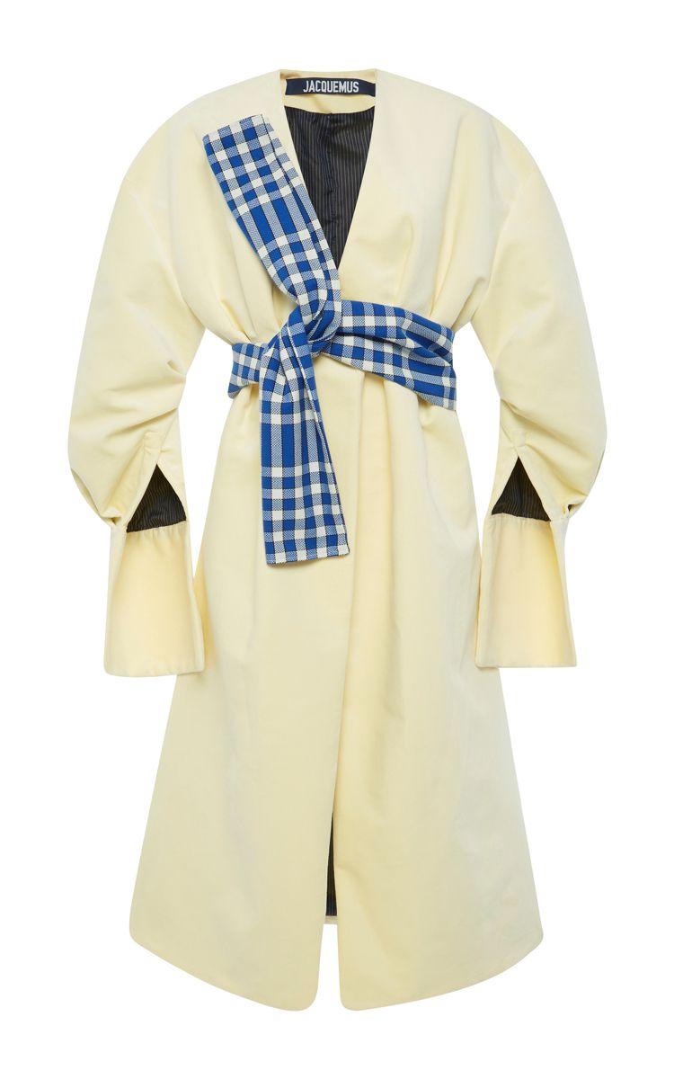 Belted Split Sleeve Coat by JACQUEMUS for Preorder on Moda Operandi