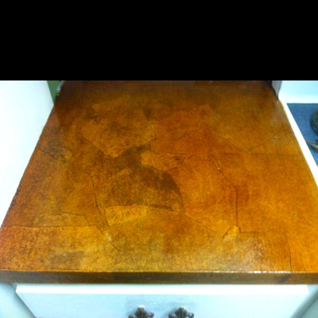 Countertops made of brown shipping paper