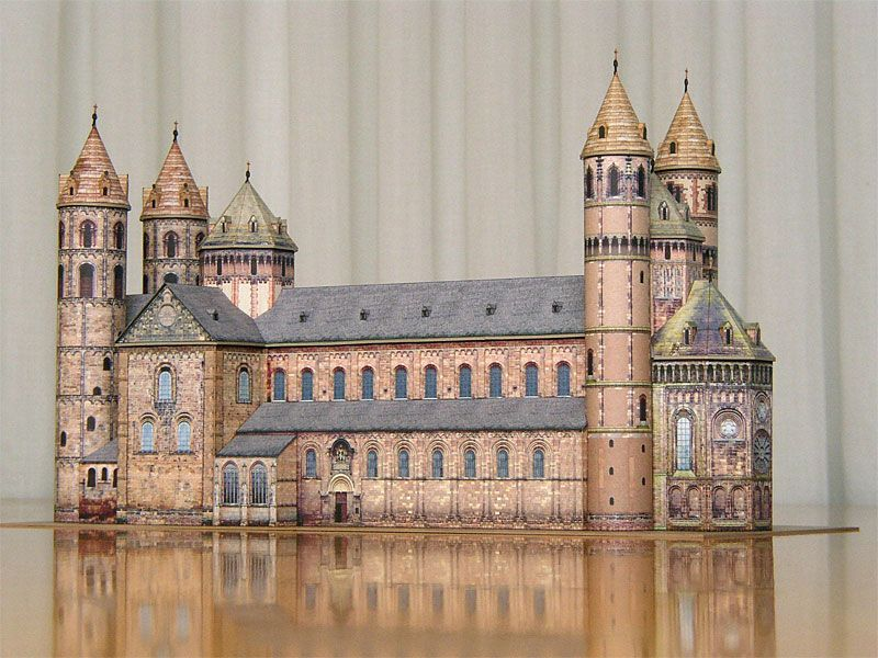 OTTONIAN ARCHITECTURE - Model of the cathedral of Worms, 1110-1181 - haus der k chen worms