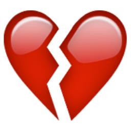 Broken Heart Emoji U 1f494 U E023 Broken Heart Emoji Broken Heart Symbol Broken Heart